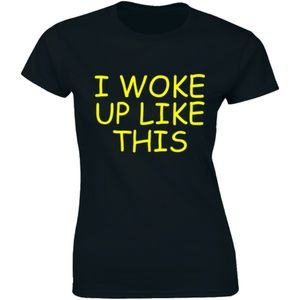 I Woke Up Like This Hipster Music T-shirt Tee
